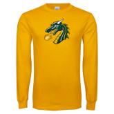 Gold Long Sleeve T Shirt-Dragon Head