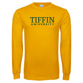 Gold Long Sleeve T Shirt-Tiffin University