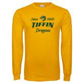 Gold Long Sleeve T Shirt-Established Date