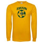 Gold Long Sleeve T Shirt-Dragons Soccer
