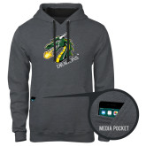 Contemporary Sofspun Charcoal Heather Hoodie-Dragon with Text