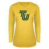 Ladies Syntrel Performance Gold Longsleeve Shirt-University TU