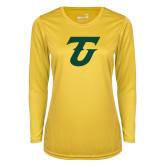 Ladies Syntrel Performance Gold Longsleeve Shirt-Athletic TU