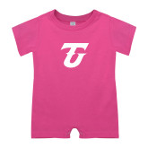 Bubble Gum Pink Infant Romper-Athletic TU