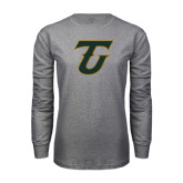 Grey Long Sleeve T Shirt-Primary Logo