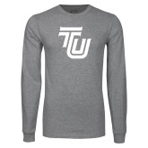 Grey Long Sleeve T Shirt-University TU