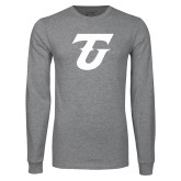 Grey Long Sleeve T Shirt-Athletic TU