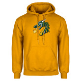 Gold Fleece Hoodie-Dragon Head