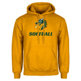 Gold Fleece Hoodie-Softball