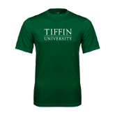 Performance Dark Green Tee-Tiffin University
