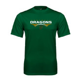 Performance Dark Green Tee-Football with Wings
