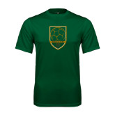 Performance Dark Green Tee-Soccer Shield