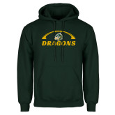 Dark Green Fleece Hood-Dragons Football