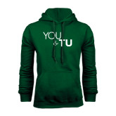 Dark Green Fleece Hood-You and TU