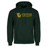 Dark Green Fleece Hood-TU with Tiffin Universrity Horizontal