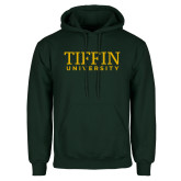 Dark Green Fleece Hood-Tiffin University