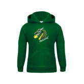 Youth Dark Green Fleece Hoodie-Dragon with Text