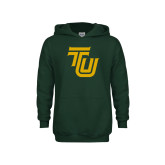 Youth Dark Green Fleece Hoodie-University TU