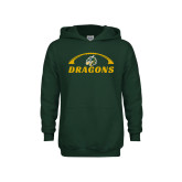 Youth Dark Green Fleece Hoodie-Dragons Football