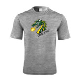 Performance Grey Heather Contender Tee-Dragon with Text
