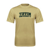 Performance Vegas Gold Tee-Tiffin University Arched and Stacked