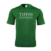Performance Dark Green Heather Contender Tee-Tiffin University