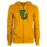 ENZA Ladies Gold Fleece Full Zip Hoodie-University TU