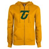 ENZA Ladies Gold Fleece Full Zip Hoodie-Athletic TU
