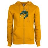 ENZA Ladies Gold Fleece Full Zip Hoodie-Dragon Head
