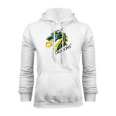 White Fleece Hoodie-Dragon with Text