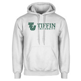 White Fleece Hoodie-TU with Tiffin Universrity Horizontal