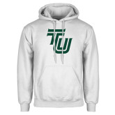 White Fleece Hoodie-University TU