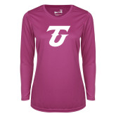Ladies Syntrel Performance Raspberry Longsleeve Shirt-Athletic TU