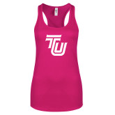 Next Level Ladies Raspberry Ideal Racerback Tank-University TU