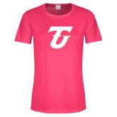 Ladies Performance Hot Pink Tee-Athletic TU