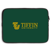 15 inch Neoprene Laptop Sleeve-TU with Tiffin Universrity Horizontal