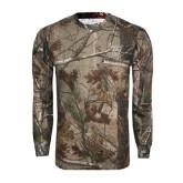 Realtree Camo Long Sleeve T Shirt w/Pocket-Primary Logo