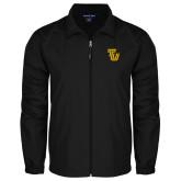 Full Zip Black Wind Jacket-University TU