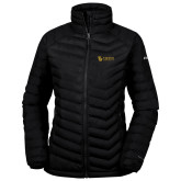 Columbia Powder Lite Ladies Black Jacket-TU with Tiffin Universrity Horizontal