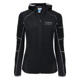 Columbia Ladies Sweet As Black Hooded Jacket-Tiffin University