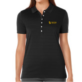Ladies Callaway Opti Vent Black Polo-TU with Tiffin Universrity Horizontal