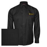Red House Black Herringbone Long Sleeve Shirt-TU with Tiffin Universrity Horizontal