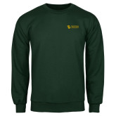 Dark Green Fleece Crew-TU with Tiffin Universrity Horizontal