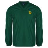 V Neck Dark Green Raglan Windshirt-University TU