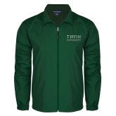 Full Zip Dark Green Wind Jacket-Tiffin University