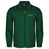 Full Zip Dark Green Wind Jacket-TU with Tiffin Universrity Horizontal