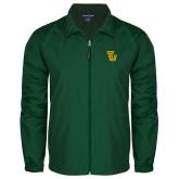 Full Zip Dark Green Wind Jacket-University TU