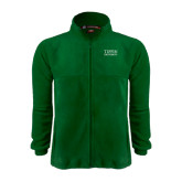 Fleece Full Zip Dark Green Jacket-Tiffin University