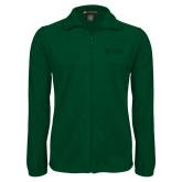 Fleece Full Zip Dark Green Jacket-TU with Tiffin Universrity Horizontal