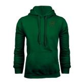 Dark Green Fleece Hood-Primary Logo